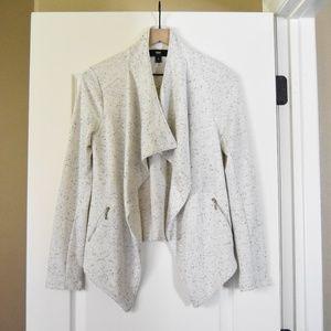 Open Front Jersey Cardigan Blazer